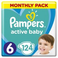 Pampers Πάνες Active Baby Monthly Box (124τεμ) Νο6 (13-18kg)