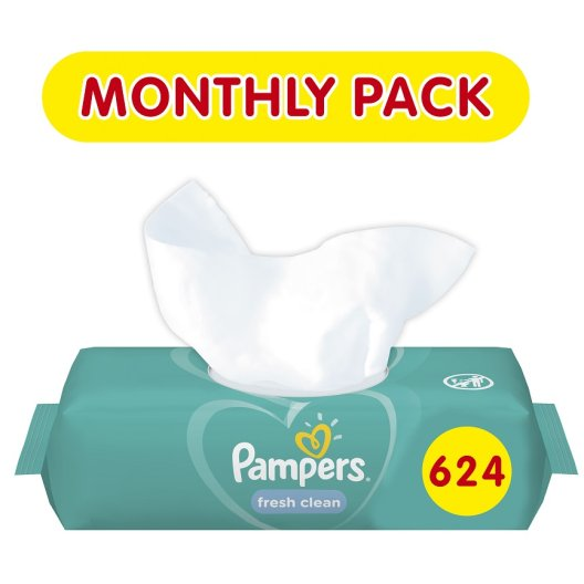 Pampers Fresh Clean Μωρομάντηλα 624τεμάχια (12x52)