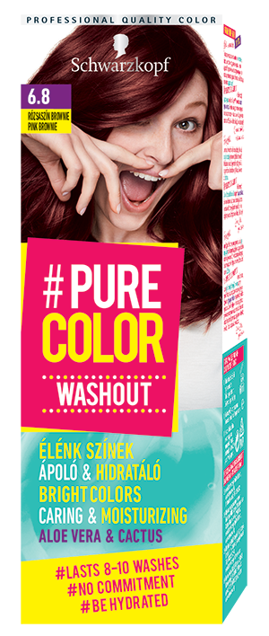 Schwarzkopf Pure Color Washout 6.8 Pink Brownie