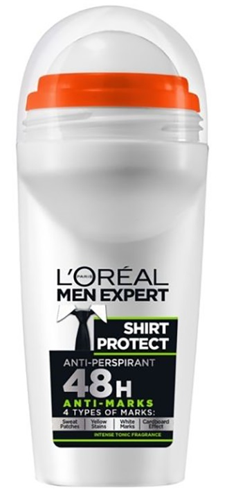 L'OREAL Men Expert Shirt Protect Αποσμητικό Roll On 50ml