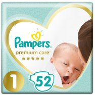 Pampers Πάνες Premium Care Value Pack (52τεμ) Νo1 (2-5kg)