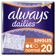 Always Dailies Singles Normal Σερβιετάκια 20 τεμ.