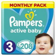 Pampers Πάνες Active Baby Monthly Box (208τεμ) No3 (6-10kg)