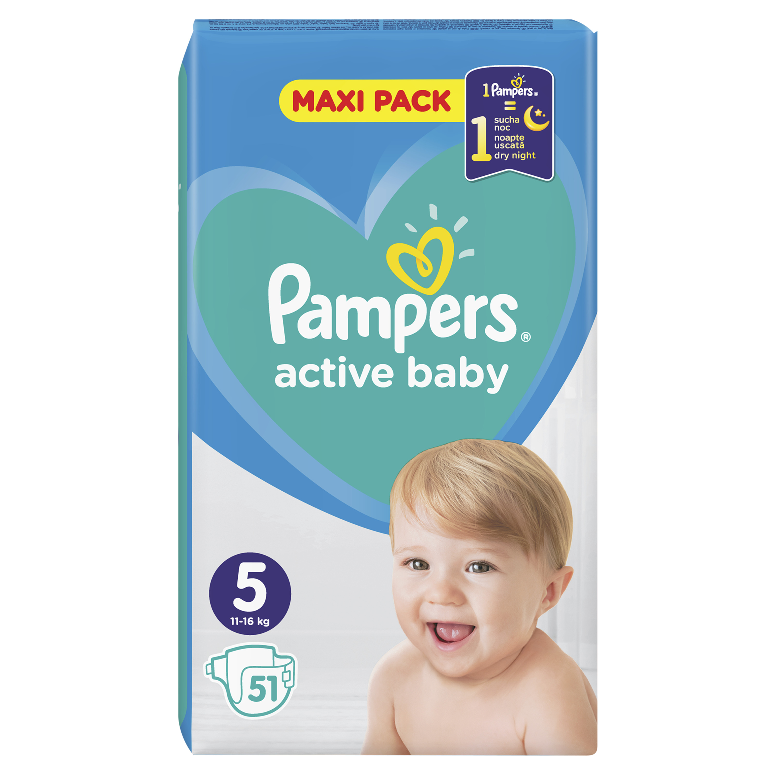 Pampers Πάνες Active Baby Maxi Pack (51τεμ) Νο5 (11-16kg)
