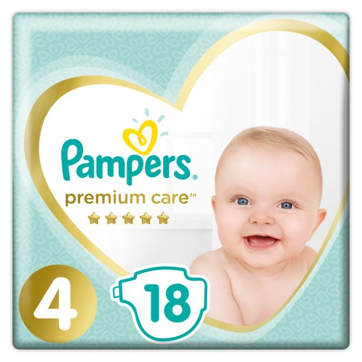 Pampers Πάνες Premium Care Carry Pack (18τεμ) Νο4 (9-14kg)
