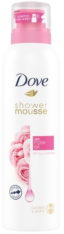 Dove Rose Mousse Ντους 200ml