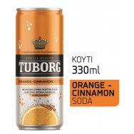 Tuborg Orange Cinnamon Σόδα Κουτί 330ml