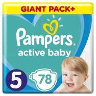 Pampers Πάνες Active Baby Giant Pack (78τεμ) Νο5 (11-16kg)