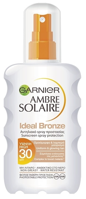 Ambre Solaire Aντηλιακό Spray Ideal Bronze SPF30 200ml