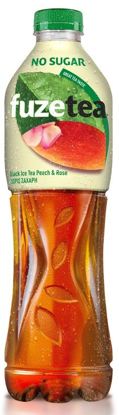 Fuze Tea Black Peach & Rose Χωρίς Ζάχαρη 500ml