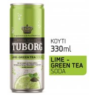 Tuborg Lime Green Tea Σόδα Κουτί 330ml