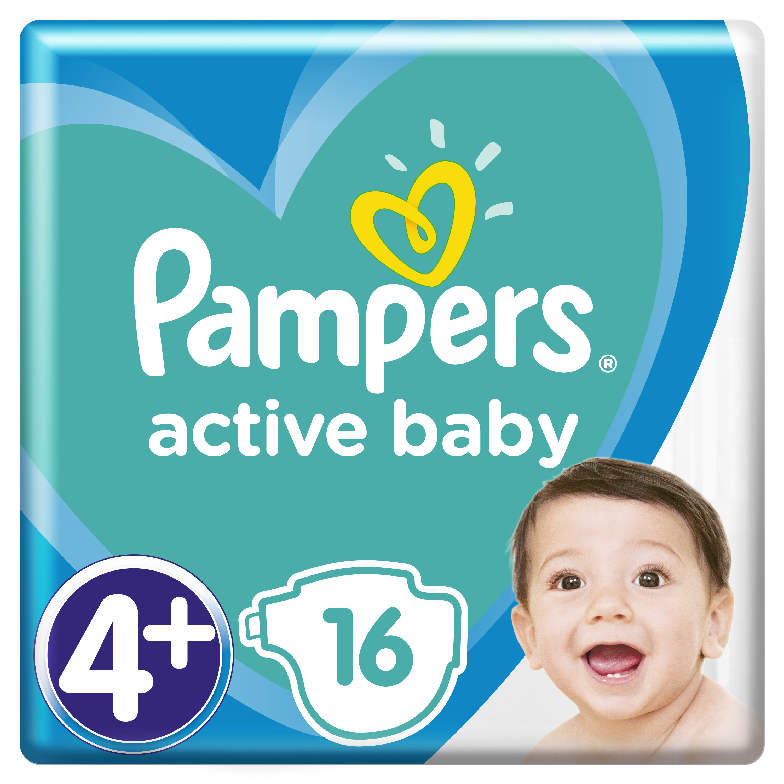 Pampers Πάνες Active Baby Carry Pack (16τεμ) Νο4+ (10-15kg)