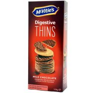 McVities DigestivesThins Milk Chocholate 150gr