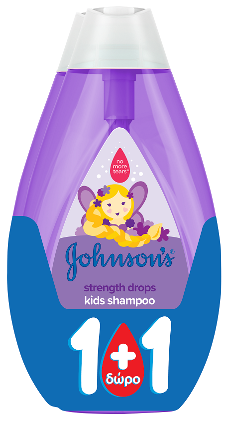 Johnson's Kids Shampoo Strong Dry 500ml 1+1Δώρο