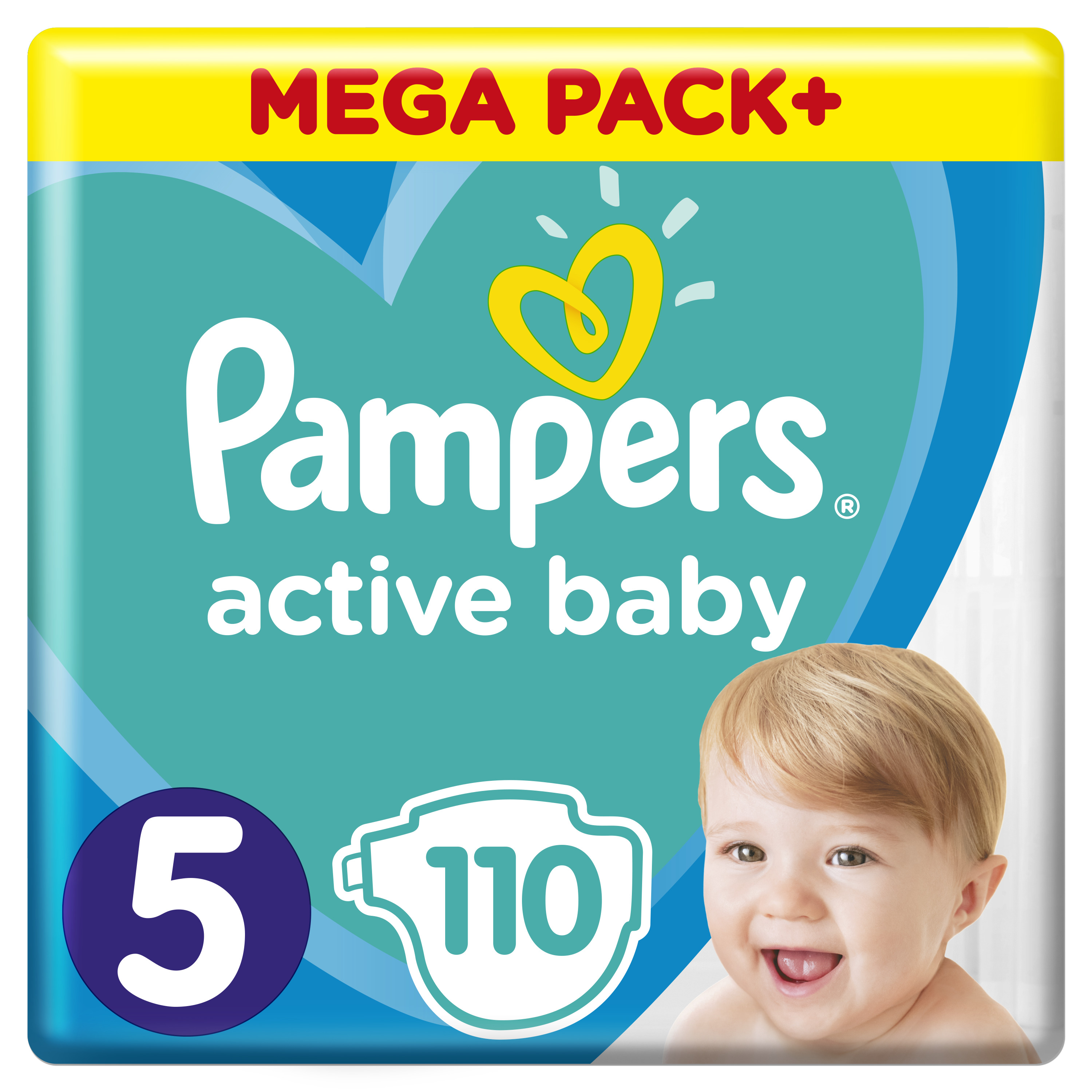 Pampers Πάνες Active Baby Mega Box (110τεμ) Νο5 (11-16kg)