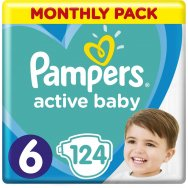 Pampers Πάνες Active Baby Monthly Pack (124τεμ) Νο6 (13-18kg)