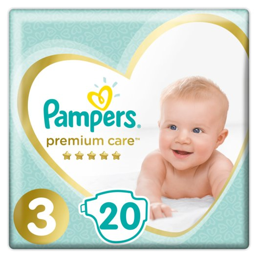 Pampers Πάνες Premium Care Carry Pack (20τεμ) Νο3 (6-10kg)