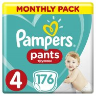 Pampers Πάνες Pants Monthly Pack (176τεμ) Νο 4 (9-14kg)