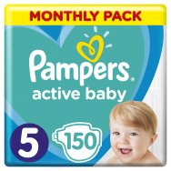 Pampers Πάνες Active Baby Monthly Box (150τεμ) Νο5 (11-16kg)