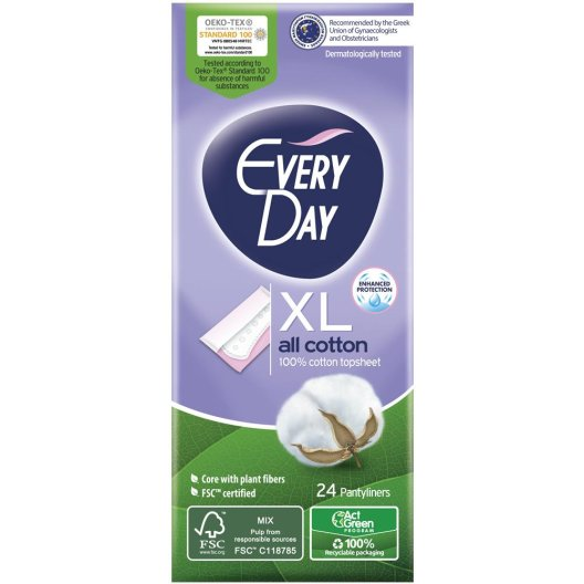 Everyday All Cotton Σερβιετάκια Extra Long 24 τεμάχια