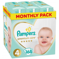 Pampers Πάνες Premium Care Monthly Box (168τεμ) Νο4 (9-14kg)