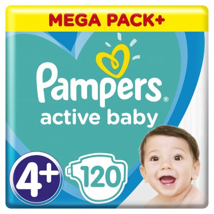 Pampers Πάνες Active Baby Mega Box (120τεμ) Νο4+ (10-15kg)