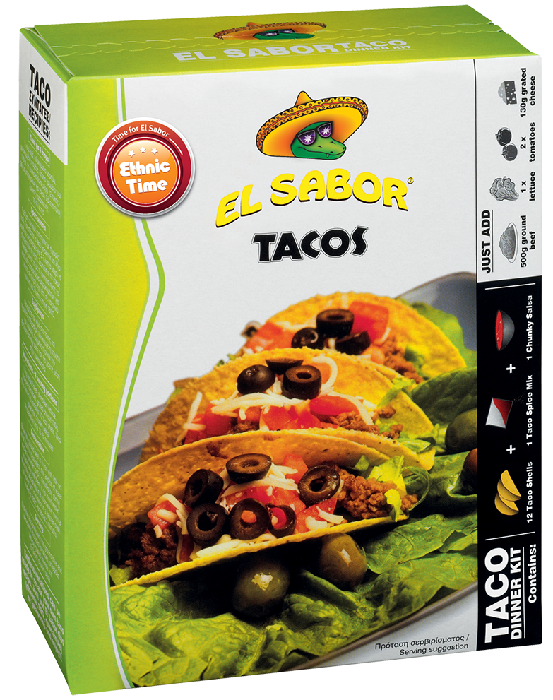 El Sabor Tacos Dinner Kit 335gr