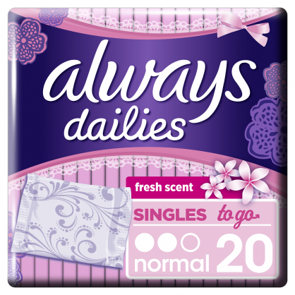 Always Singles To Go Normal Fresh Σερβιετάκια 20τεμάχια