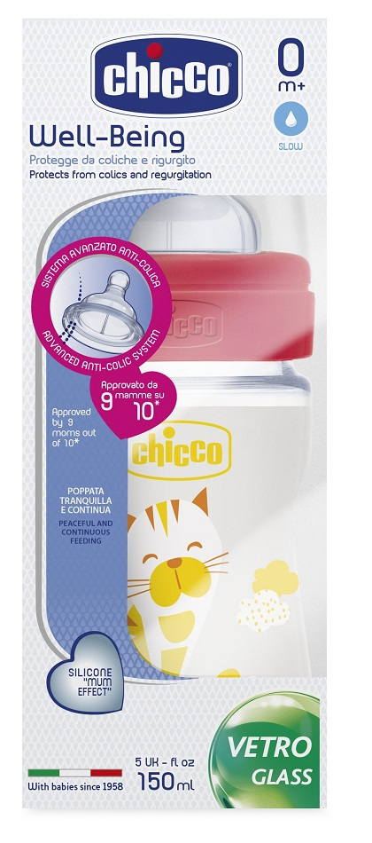 Chicco Μπιμπερό Nature Glass 150ml