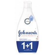 Johnson's Clean & Protect Almond Αφρόλουτρο 750ml 1+1 Δώρο