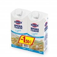 Φάγε Κρέμα Γάλακτος Light 2x330ml -1,50€