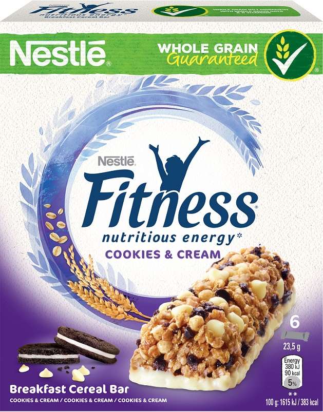 Nestle Fitness Bars Cookies & Cream 6x23,5gr