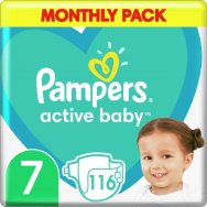 Pampers Active Baby Monthly Pack (116τεμ) Νο 7 (15+kg)