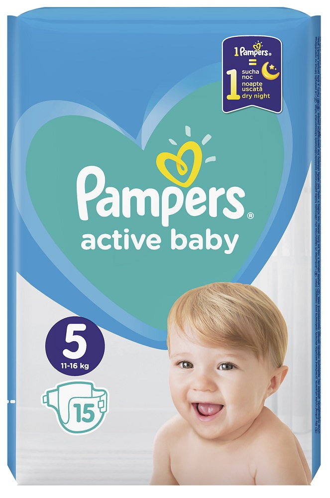 e3a5e2fc115 Pampers Πάνες Active Baby Carry Pack (15τεμ) Νο5 (11-16kg) | MyMarket