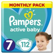 Pampers Πάνες Active Baby Monthly Box (112τεμ) Νο7 (15+kg)