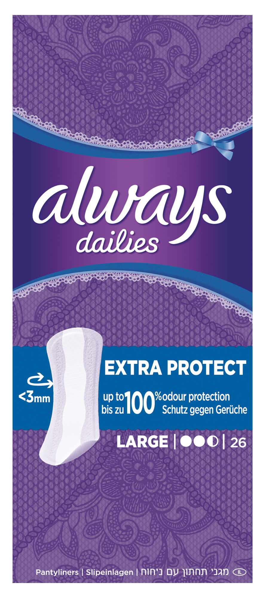 Always Dailies Extra Protect Large Fresh Σερβιετάκια 32τεμάχια