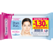 Pom Pon E&F Micellaire Υγρά Μαντηλάκια Ντεμακιγιάζ -1,30€