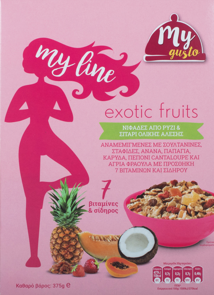 My Gusto My Line Exotic Fruit 375gr