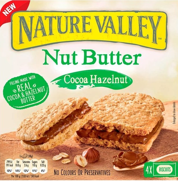 Nature Valley Μπάρες Nut Butter Cocoa Hazelnut 4x38gr