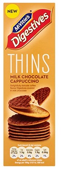 McVities DigestivesThins Milk Chocholate ,Capuccino 150gr