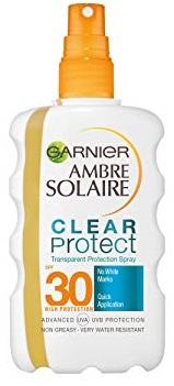 Ambre Solaire Αντιηλιακό Spray Clear SPF30 200ml