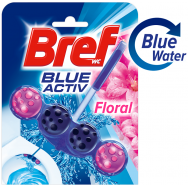 Bref WC Block Blue Active Θήκη Floral 50gr