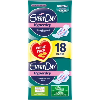 Everyday Hyperdry Ultra Plus Normal Economy 18 τεμ.