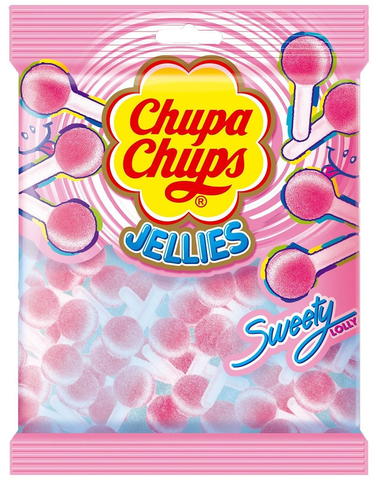 Chupa Chups Jellies Sweet Lollies 90gr