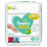 Pampers New Baby Μωρομάντηλα 4x50 Τεμάχια