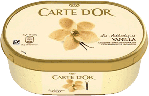 Algida Carte D'Or Παγωτό Vanilla 500gr 1000ml
