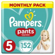 Pampers Πάνες Pants Monthly Pack (152τεμ) Νο 5 (12-18kg)