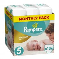 Pampers Πάνες Premium Care Monthly Box (136τεμ) Νο5 (11-18kg)