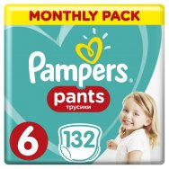 Pampers Πάνες Pants Monthly Pack (132τεμ) Νο 6 (16+kg)