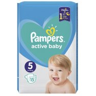 Pampers Πάνες Active Baby Carry Pack (15τεμ) Νο5 (11-16kg)